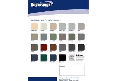 Fielders Endurance Colorbond Brochure